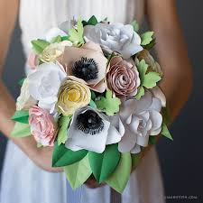 Paper Flower Bouquet For Wedding Video Tutorial Paper Flowers For Your Flower Bouquet Lia