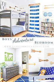 boys adventure themed bedroom reveal