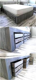rustic look furniture. Rustic Look Giant Pallet Bed With Storage Rustic Look Furniture