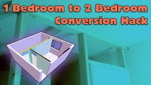 1 bedroom to 2 bedroom house