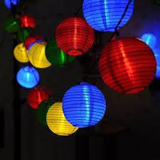 10 Solar Lampionnen Lichtketting Feestverlichting
