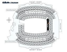 Gillette Stadium Seating Map Gwestmedical Info