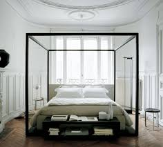 modern four poster bed king. Beautiful Four Position This Alcova Oak Canopy Bed By Bu0026B Italia Maxalto In The Middle Of  Palatial Chambers To Showcase Modern Fourposter All Its Cubic Glory And Modern Four Poster Bed King O