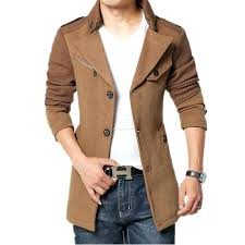 tan pea coat mens coats for men brand winter jacket coat men down collar slim fit tan pea coat mens