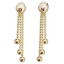 cartier drie diamond gold chandelier earrings for elegant diamond and 18k yellow