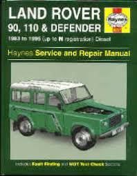 defender including 90, 110, 127 &130 page 1 Parallelogram Steering Diagram haynes manual for defender diesel