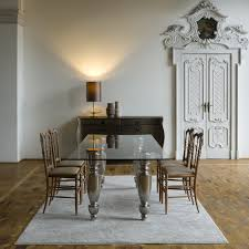 Italian Glass Dining Table Italian Designer Glass Dining Table Juliettes Interiors