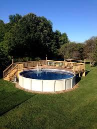 glamorous deck around above ground pool cost