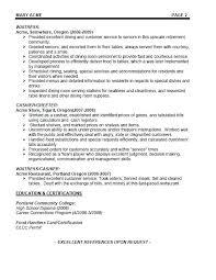 resume sample for restaurant server fine dining waitress resume thrifdecorblog com