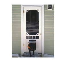 screen doors with pet door wooden pet