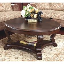 steve silver rosemont coffee table ashley brookfield round coffee table in dark brown 1