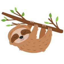 Free sloth cartoon vector 285 x 200px 40.01kb. Miss Kate Cuttables Freebie Sloth Hanging From Tree Lydia Watts