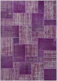 vintage patchwork overdyed purple wool rug 19041