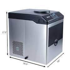 ice maker and dispenser stainless steel water dispenser w built in ice maker machine counter portable