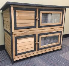 double bank rabbit hutch for indoors