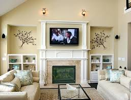 mounting tv brick fireplace install mount hide wires
