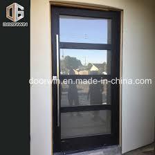 entry entrance door with oak wood frame