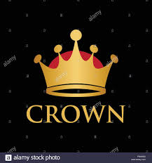 King Design Logo Illustration Of King Queen Crown Logo Design Template Stock