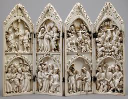 ivory carving in the gothic era thirteenth fifteenth centuries polyptych scenes from christs passion