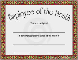 Employee Of The Month Template With Photo Employee Of The Month Certificate Perfect Employee Of The Month
