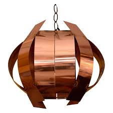 sculptural copper hanging light fixture for at 1stdibs