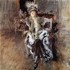 Giovanni Boldini - Ritratto di Madame Lacroix, 1910 - Acquarello su carta,  490 x 490 mm, Collezione privata | Giovanni boldini, Dipingere idee, Pittore