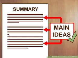 Journal Article How To Summarize A Journal Article With Examples Wikihow
