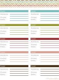 Address Book Template Best 25 Contact List Ideas On Pinterest Address Book Template