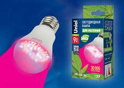 <b>LED</b>-<b>A60</b>-<b>9W</b>/<b>SP</b>/<b>E27</b>/<b>CL</b> ALM01WH картон <b>Uniel</b> Лампы ...
