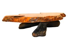 Coffee Table Tree Mid Century Live Edge Wood Tree Slab Coffee Table
