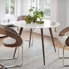 lucerne white marble 4 seater dining table round