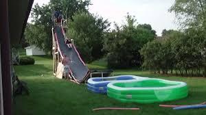 BACKYARD WATER SLIDE - YouTube