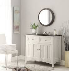 white vanity black top adelina 48 75 inch antique white sink bathroom vanity black