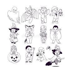 Libro Da Colorare Di Halloween Personaggio Dei Cartoni Animati