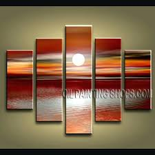 how to hang canvas board enchanting contemporary wall art oil painting on canvas panels stretched ready to hang sunset this 5 panels canvas wall art is hand