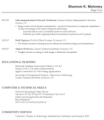 Resume Sample For A Technical Instructor Susan Ireland Resumes