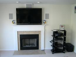 tv over fireplace free wall design mantel height