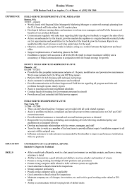 Field Service Representative Sample Resume Field Services Representative Resume Samples Velvet Jobs 20