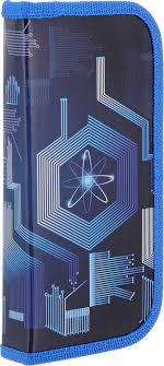 <b>Пенал Brauberg Атом</b>, для начальной школы, синий, <b>19 х 9</b> см ...