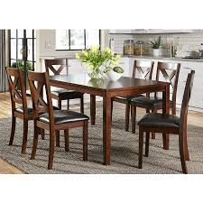 thornton russet 7 piece rectangular dining room set