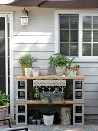 cinder block furniture. Modren Furniture Cinder Block Potting Bench For Furniture