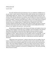 ethnocentrism study resources 1 page sociology essay 2 ethnocentrism