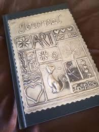 journal cards book journal journals pewter metal metal embossing foil art metal art sbooks sole diaries metal sting sbook als
