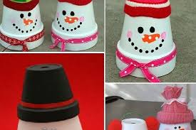 cool and fun projects to do at home. diy christmas decorations made using terracotta pots cool and fun projects to do at home