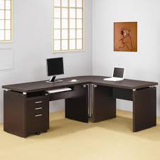 double office desk. Office:Sumptuous L Shaped Dark Wood Double Desk For Computer Office Table And Extraordinary Photo P