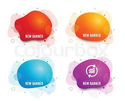 Liquid Badges Set Of Credit Card Web Stock Vector