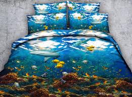 3d fl bedding sets full dinosaur duvet cover bedspreads bed linen kids twin for girls quilt covers fish pillow shams without comforter comforter sets