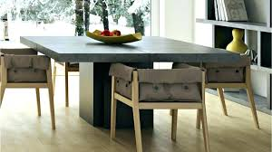 round concrete dining table base top outdoor diy and wood