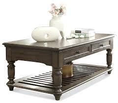 riverside furniture 2 drawer rectangular coffee table coventry