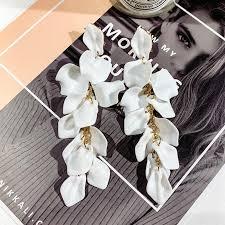 XIYANIKE <b>2020 New</b> Long Tassel Rose Flower Petals Dangle ...